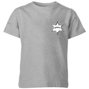 Toy Story Sheriff Woody Badge Kids' T-Shirt - Grey