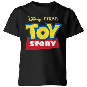 Toy Story Logo Kinder T-shirt - Zwart
