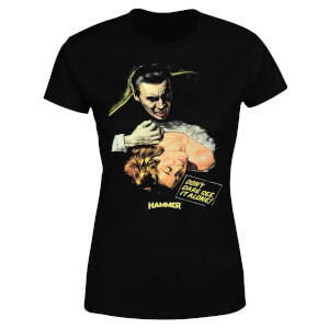 T-Shirt Hammer Horror Dracula Don't Dare See It Alone - Nero - Donna
