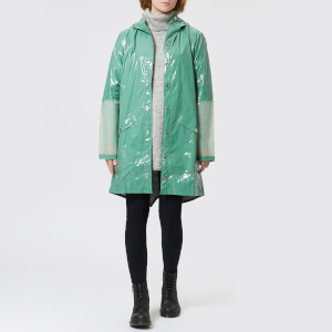 RAINS Women's Ltd Long Jacket - Faded Green