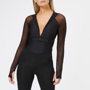 Ivy Park Women's Regal Drape Mesh Hooded Body - Black