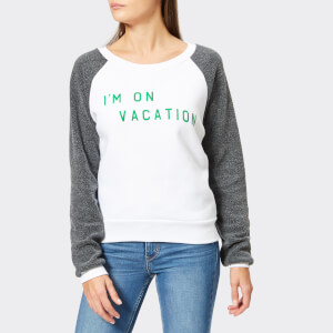 Wildfox Women's I'm On Vacation Sweatshirt - Clean White/Clean Black