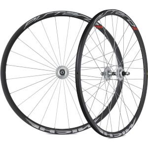 Miche Pistard Track Clincher Wheelset - 700c - Black/Silver
