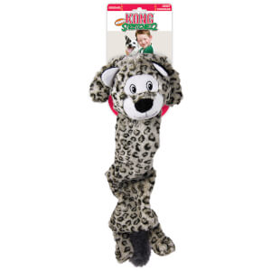 KONG Jumbo Stretchezz Snow Leopard Dog Toy