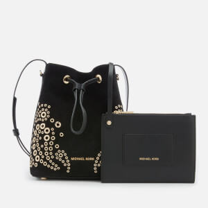 MICHAEL MICHAEL KORS Women's Cary Small Bucket Bag with Paisely Grommit Studs - Black