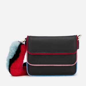 Les Petits Joueurs Women's Bibi Strap Fur Piping Bag - Multi