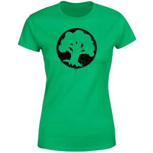 T-Shirt Magic The Gathering Green Mana Splatter - Verde - Donna