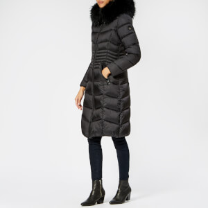 Froccella Women's Long Quilted Parka - Black