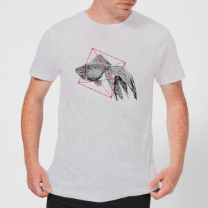 Florent Bodart Fish In Geometry Men's T-Shirt - Grey