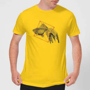 Florent Bodart Fish In Geometry Men's T-Shirt - Yellow