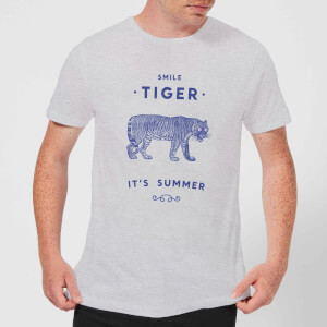 Florent Bodart Smile Tiger Men's T-Shirt - Grey