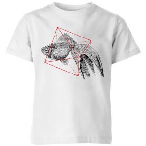 Florent Bodart Fish In Geometry Kids' T-Shirt - White