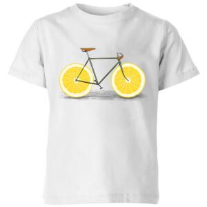 Florent Bodart Citrus Lemon Kids' T-Shirt - White