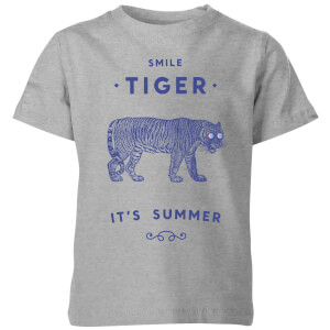 Florent Bodart Smile Tiger Kids' T-Shirt - Grey