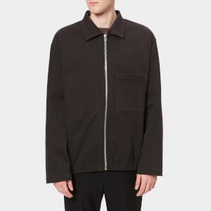 Lemaire Men's Heavy Cotton Fleece Jersey Jacket - Anthracite