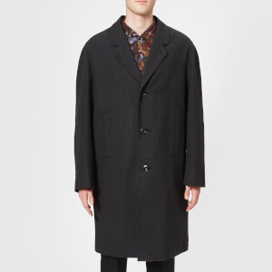 Lemaire Men's Chesterfield Coat - Slate