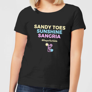 Be My Pretty Sandy Toes Women's T-Shirt - Black