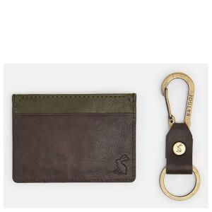 Joules Men's Card Holder and Keyring Set - Black (Free Gift)