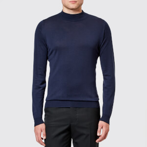 John Smedley Men's Harcourt 30 Gauge Extra Fine Funnel Neck Jumper - Midnight