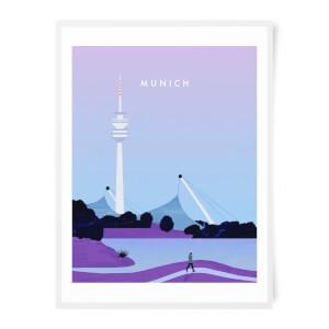 PlanetA444 Munich Art Print