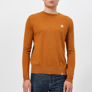 Pretty Green Men's Hinchcliffe Crew Neck Knitted Jumper - Spice