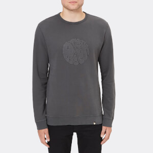 Pretty Green Men's Havelock Applique Sweatshirt - Charcoal