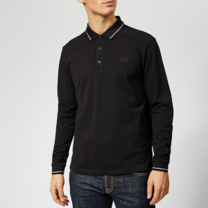HUGO Men's Donol LS Polo Shirt - Black