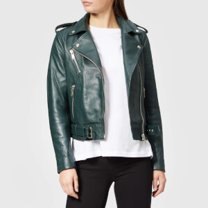 Gestuz Women's Aloha Leather Jacket - Deep Pine