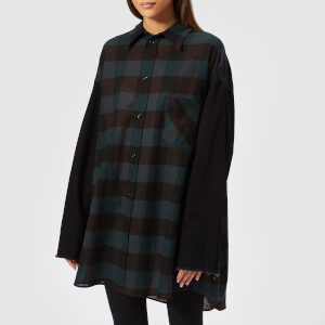MM6 Maison Margiela Women's Oversized Shirt - Black-Green