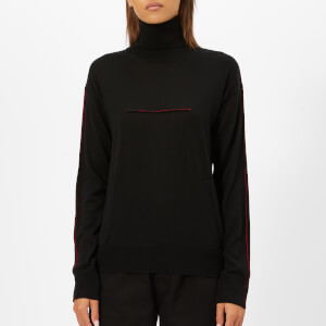 MM6 Maison Margiela Women's Lightweight Polo Knit - Black