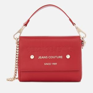 Versace Jeans Women's Top Handle Chain Cross Body Bag - Red