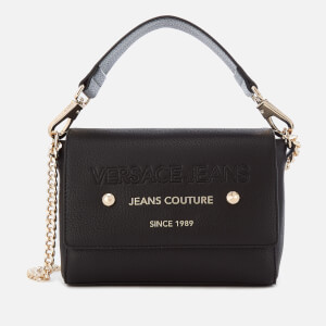 Versace Jeans Women's Top Handle Chain Cross Body Bag - Black