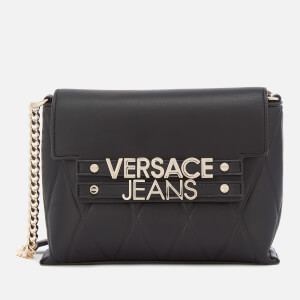 Versace Jeans Women's Classic Chain Cross Body Bag - Black