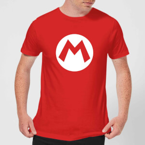 Nintendo Super Mario Mario Logo Men's T-Shirt - Red