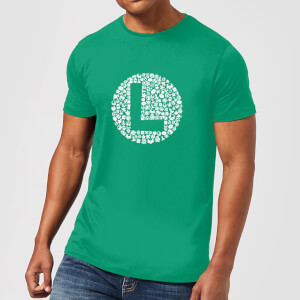 T-Shirt Nintendo Super Mario Luigi Items Logo - Verde - Uomo