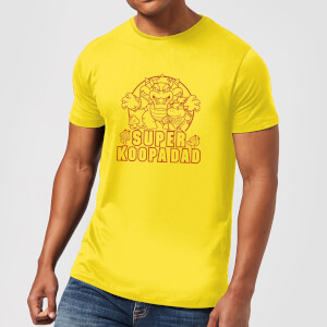 Nintendo Super Mario Super Koopa Dad Men's T-Shirt - Yellow