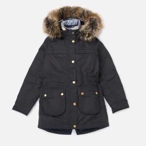 Barbour Girls' Dartford Wax Jacket - Navy