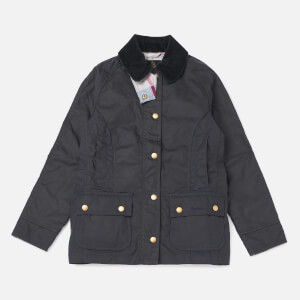 Barbour Girls' Bower Wax Jacket - Navy