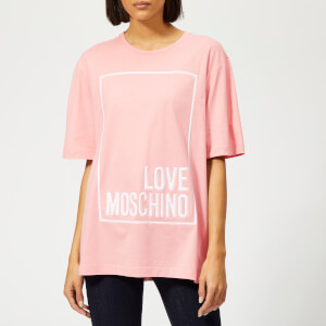 Love Moschino Women's Logo Box T-Shirt - Pink