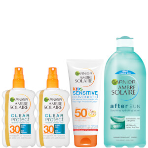 Ambre Solaire Family Sun Cream and Aftersun Pack SPF 30 and SPF 50