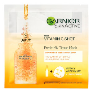 Garnier Fresh-Mix Face Sheet Mask Shot with Vitamin C