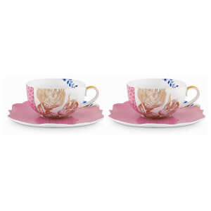 Pip Studio Tea Cups and Saucers - Pink (Set of 2)