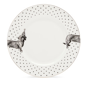 Yvonne Ellen Party Pup Dinner Plate - White