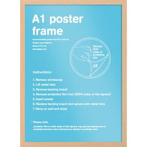 Oak Wooden A1 Poster/Print Frame 59.4x84.1cm