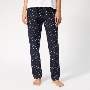 Tommy Hilfiger Women's Logo Woven Pants - Blue