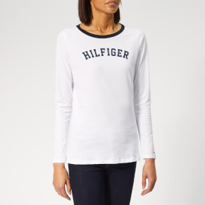 Tommy Hilfiger Women's Long Sleeve Logo T-Shirt - White