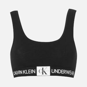 Calvin Klein Women's Monogram Bralette - Black