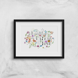 A Little Cloth Rabbit All Good Things Are Wild and Free Art Print
