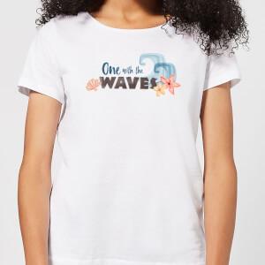 T-Shirt Femme One With The Vague s Vaiana, la Légende du bout du monde Disney - Blanc