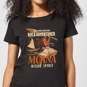 Vaiana (Moana) Find Your Own Way Damen T-Shirt - Schwarz